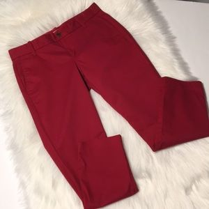 J. Crew red Frankie cropped pants Size 4 Petite